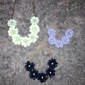 Floral Statement Necklaces (3 colors)